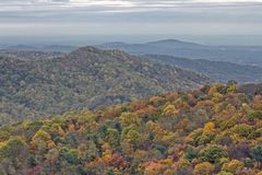 Follaje colorido del otoño en Rolling Hills Fotografía de archivo libre de regalías