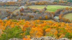 Follaje de otoño de Connecticut almacen de video
