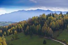 Follaje hermoso del paisaje y del otoño de la montaña Fotografía de archivo