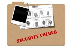 Follder de la seguridad Imágenes de archivo libres de regalías