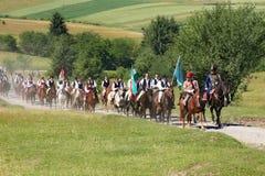 Folle dei pellegrini che si raccolgono in Csiksomlyo Fotografia Stock Libera da Diritti