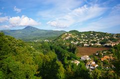 Folleli village city in Corsica island Stock Photos