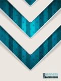 Folleto abstracto de la turquesa con forma de la flecha Fotos de archivo libres de regalías