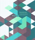 Folleto abstracto del mosaico de /retro del fondo o stock de ilustración