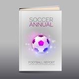 Folleto abstracto moderno como libro Tema del fútbol Imágenes de archivo libres de regalías