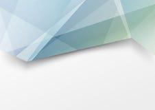Folleto abstracto triple moderno de la estructura cristalina Imagenes de archivo
