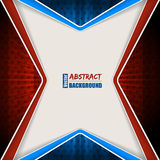Folleto azul rojo abstracto con las rayas y las estrellas Foto de archivo libre de regalías