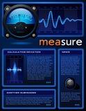 folleto Ciencia-temático Ilustración del Vector
