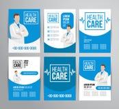 Folleto de la atención sanitaria stock de ilustración