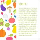 Folleto de la dieta del vegano libre illustration