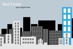 Folleto de las propiedades inmobiliarias ilustración del vector