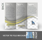 Folleto de Sunglasses Store Tri-Fold del óptico stock de ilustración