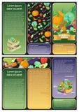 Folleto de verduras deliciosas Fotos de archivo libres de regalías