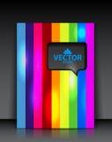 Folleto del arco iris del vector Imagen de archivo libre de regalías