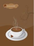 Folleto del café del vector stock de ilustración