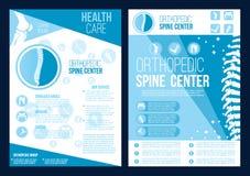 Folleto del centro de salud de la espina dorsal de la ortopedia del vector libre illustration