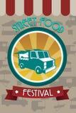 Folleto del festival de la comida de la calle Fotos de archivo