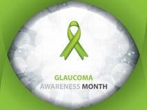 Folleto del mes de la conciencia del glaucoma Imagen de archivo libre de regalías