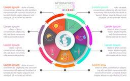 Folleto del negocio infographic con el círculo en centro libre illustration