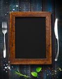Folleto del restaurante del menú del café Plantilla del diseño de la comida fotografía de archivo libre de regalías