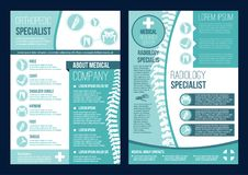 Folleto del vector para el centro de salud de la ortopedia libre illustration