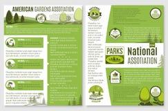 Folleto del vector para el paisaje o la compañía que cultiva un huerto libre illustration