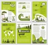 Folleto del vector para la compañía verde del eco de la naturaleza ilustración del vector