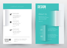 Folleto determinado de la plantilla del vector del diseño de la cubierta, informe anual, revista, cartel, presentación corporativ stock de ilustración