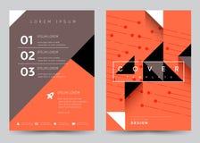 Folleto determinado de la plantilla del vector del diseño de la cubierta, informe anual Fotografía de archivo libre de regalías