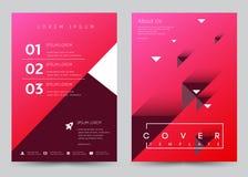 Folleto determinado de la plantilla del vector del diseño de la cubierta, informe anual, revista, cartel, presentación corporativ Fotos de archivo