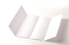 Folleto en blanco imagen de archivo libre de regalías
