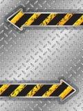 Folleto industrial con las pistas del neumático alrededor de flechas Fotografía de archivo libre de regalías