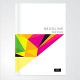 Folleto, informe, plantilla del diseño del catálogo Imagen de archivo