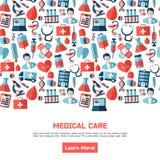 Folleto médico de la atención sanitaria Imágenes de archivo libres de regalías