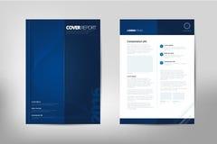 Folleto moderno del informe anual de la cubierta - folleto del negocio - catalogue la cubierta, el diseño del aviador, el tamaño  Fotos de archivo libres de regalías