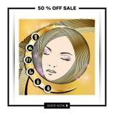 Folleto-plantilla del negocio para los salones de belleza y hairdressing-8 Fotografía de archivo