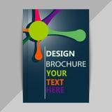 Folleto, plantillas del diseño del cartel en estilo de la molécula de la DNA Fotos de archivo