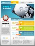 Folleto promocional del disco duro Imagenes de archivo