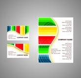 Folleto rayado colorido del vector Imágenes de archivo libres de regalías