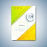 Folleto, revista, aviador, folleto, cubierta o informe moderna de la disposición de la plantilla de tamaño A4 para su diseño Ilus Fotografía de archivo libre de regalías