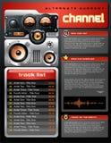 Folleto rojo del jugador de MP3 del análogo Ilustración del Vector