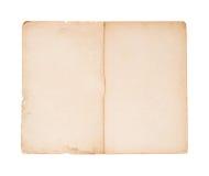 Folleto viejo en blanco foto de archivo libre de regalías