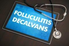 Folliculitis, decalvans (cutaneous disease) diagnosis medical co Royalty Free Stock Images