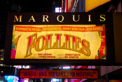 Follies Marquis at Times Square, NYC Stock Photography