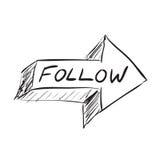 Follow Arrow Stock Photos