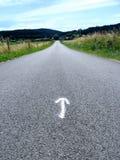 Follow the arrow Stock Photography