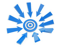 Follow arrow target Stock Photography
