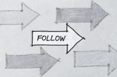 Follow arrows Royalty Free Stock Image