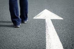 Follow the direction arrow Stock Photography