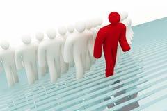 Follow the leader stock illustration